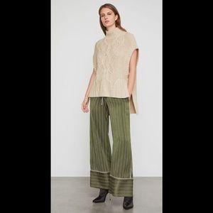 BCBG MAXAZRIA  cableknit sleeveless spring sweater